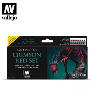 Crimson Red Set Vallejo  74103
