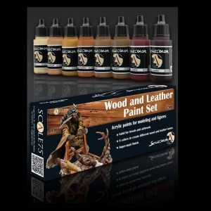 WOOD and LEATHER Paint Set...